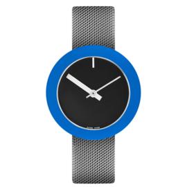 pierre junod mv34 vignelli thick & thin horloge zwart mesh