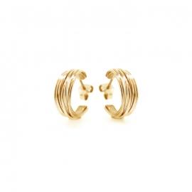 ronde wikkeloorbellen goud