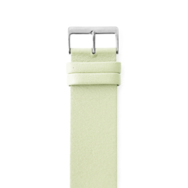 easy going watch strap buckle light green leather