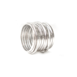 vlakke wikkelring xl zilver