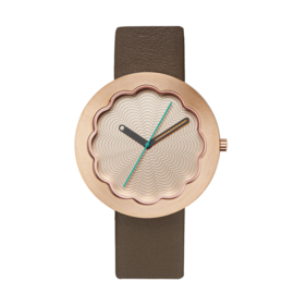projects watches scallop horloge rose