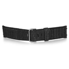 bruno ninaber horlogeband 1984 zwart met gesp