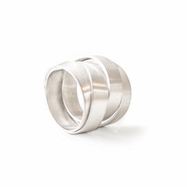 satin ribbon swirl ring