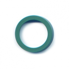 vignelli thick and thin ring sea green