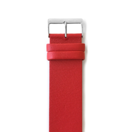 easy going watch strap buckle red leather