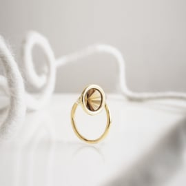 mirror loop ring