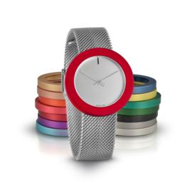 pierre junod mv34 vignelli thick & thin horloge mesh