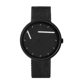 projects watches twirler horloge zwart mesh