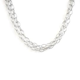 ovalencollier zilver