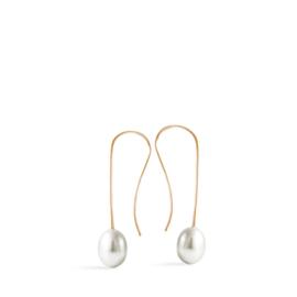 french hook pearl earrings