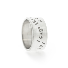 wide letter ring silver