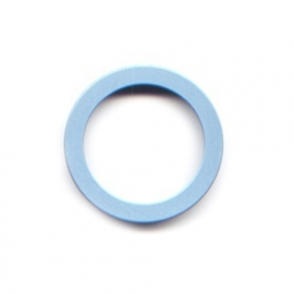 pierre junod mv 34 vignelli thick & thin ring pastelblauw
