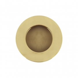 ronde goudkleurige hoogglans kast easy going