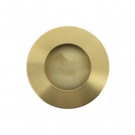 ronde goudkleurige gematteerde kast easy going