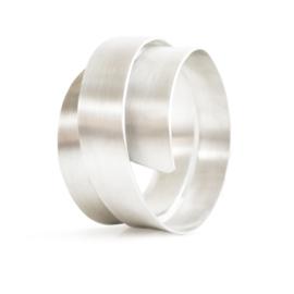 satin ribbon swirl bracelet