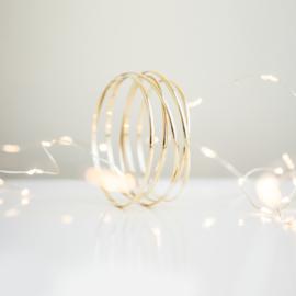 half round swirl bracelet