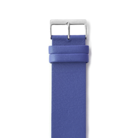 easy going watch strap buckle blue leather