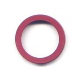 pierre junod mv 40 vignelli thick & thin large ring burgundy