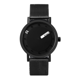 projects watches 'till horloge zwart mesh