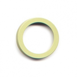 pierre junod mv 34 vignelli thick & thin ring lime