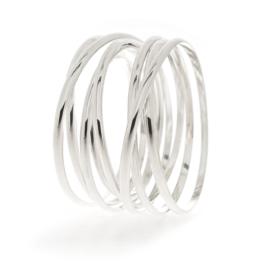 wikkelarmband breed 7 wikkel zilver