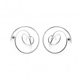 curl earrings silver
