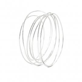wikkelarmband zilver