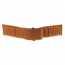 bruno ninaber horlogeband 1984 bruin met  klep
