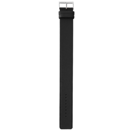 easy going watch strap buckle black leather