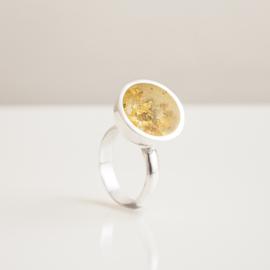 gold leaf resin ring