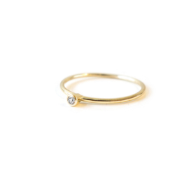 stacker yellow gold diamond