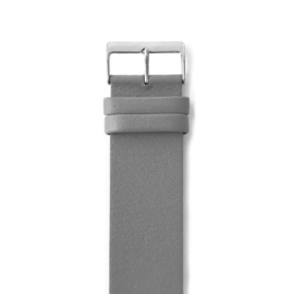 easy going watch strap buckle grey leather