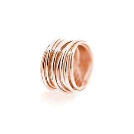 large round swirl ring rose gold