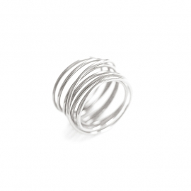 swirl ring silver