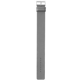 easy going horlogeband gesp grijs leer