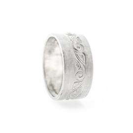 guirlande wide silver ring