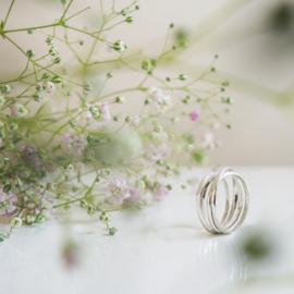 half round swirl ring