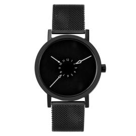 projects watches nadir horloge zwart mesh