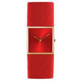 dsigntime/JLDC horloge goud & rood