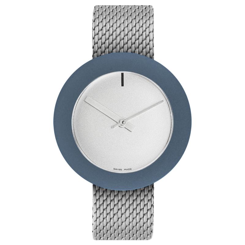 pierre junod mv40 vignelli large horloge mesh