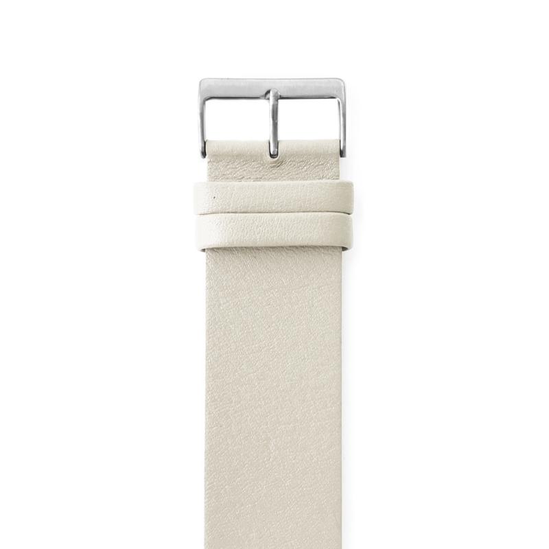 easy going horlogeband gesp beige leer