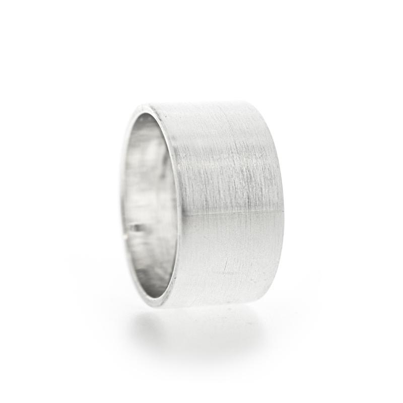 gematteerde bandring zilver