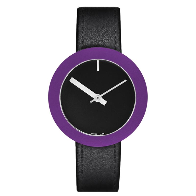 pierre junod mv34 vignelli thick & thin horloge zwart