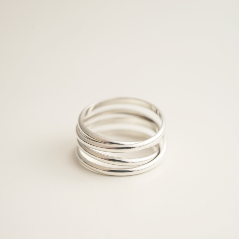 halfronde wikkelring zilver