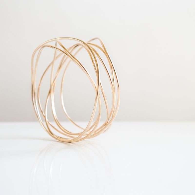 gegolfde wikkelarmband