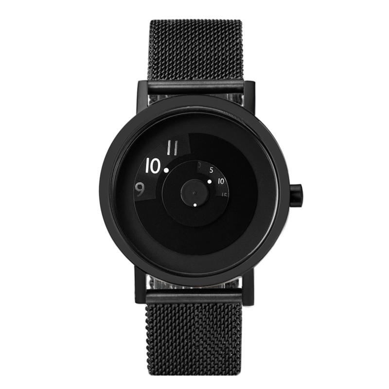 projects watches reveal horloge zwart mesh