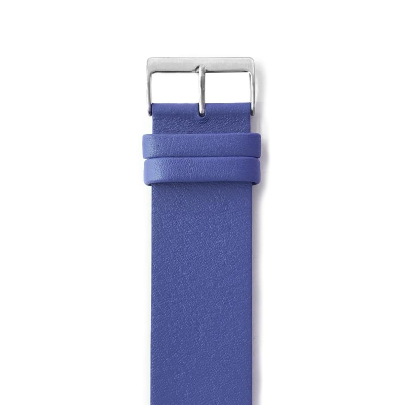 easy going horlogeband gesp blauw leer