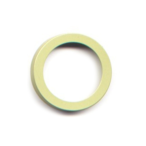 vignelli thick & thin ring lime