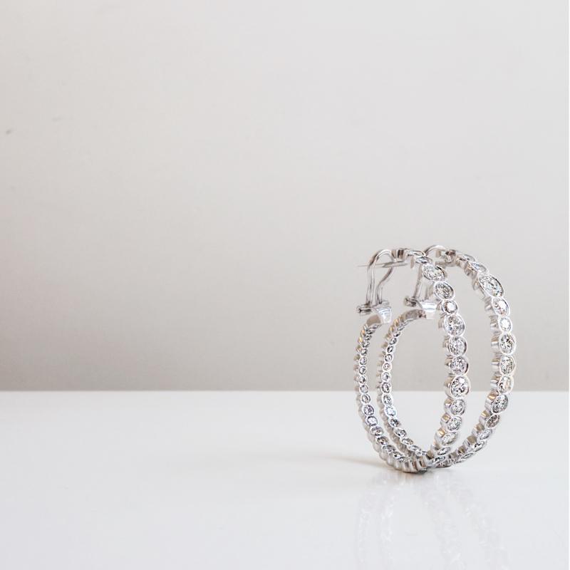 onregelmatige diamant oorbellen
