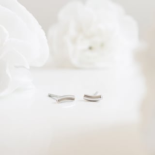 mini curve oorbellen by bofb